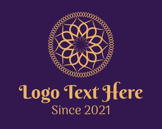 Beauty - Golden Mandala Pattern logo design