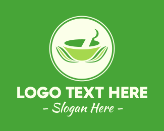 Alternative Healing - Herbal Mixing Bowl logo design