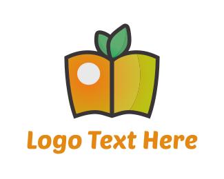 Snack - Fruit Book logo design