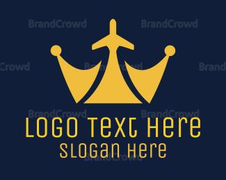Tiara - Royal Plane logo design