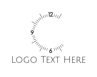 Alarm - Clock Numbers logo design
