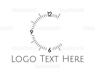 Analog - Clock Numbers logo design
