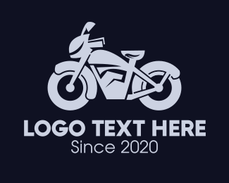 Motorbike - Gray Motorbike logo design
