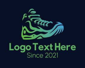 Hiking - Minimalist Hiking Boots logo design