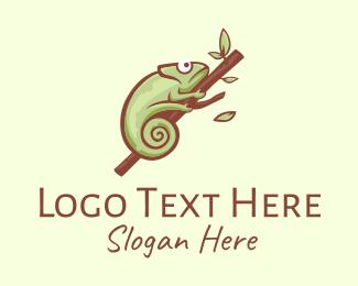 Branch - Green Chameleon Branch logo design