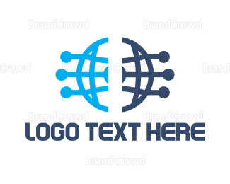 Data Transfer - Blue O Circuit logo design