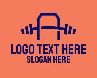 Gym Equipment - Gym Letter A logo design