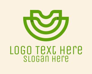 Agriculture - Green Letter U Agriculture  logo design