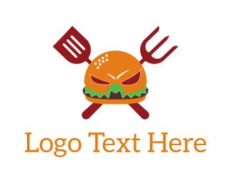 Bbq - Burger Hero logo design