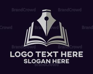 Bookshop - Pen & Book  logo design