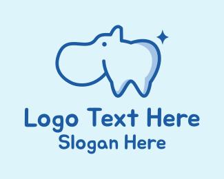 Dental - Dental Hippo Mascot  logo design
