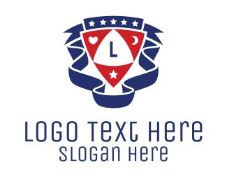 Poker - Club Shield Letter logo design