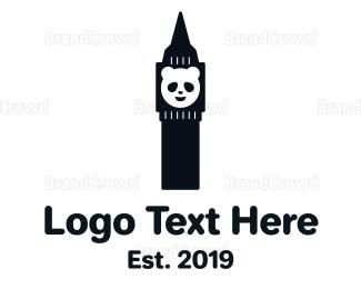 China - Panda Tower logo design