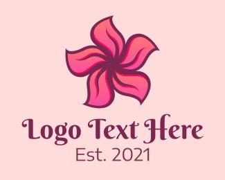 """Pink Hawaiian Flower"" by brandcrowd"