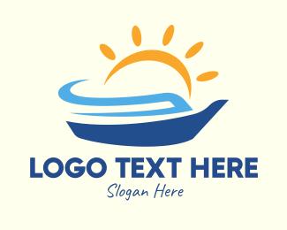 Cruise Liner - Summer Vacation Cruise Ship logo design