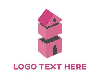 Mortgage - Pink House logo design