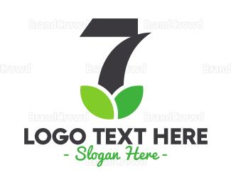 Cutting - Leaf Number 7 logo design