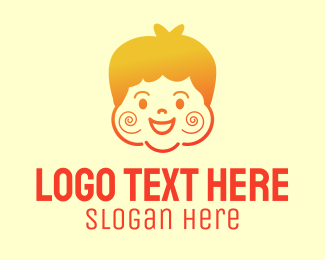 Pedia - Gradient Happy Chubby Boy logo design