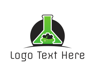 Test Tube - Technology Lab logo design