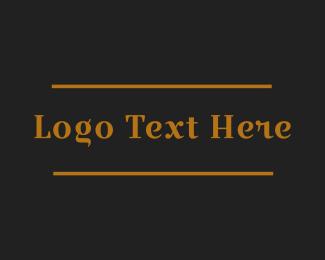 Legend - Golden Elegant Wordmark logo design