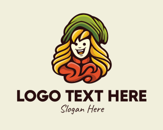 Adventure Game - Rural Girl Character logo design