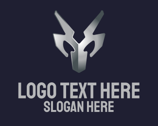 Silver - Metallic Silver Mask logo design