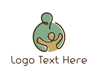 Mother - Caring Hug logo design