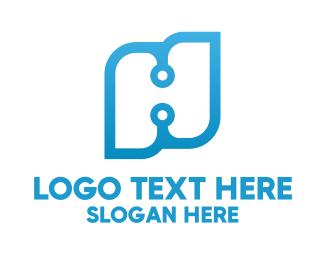 Hack - Technology Letter H logo design