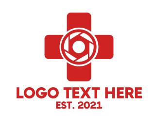 Photograph - Medical Camera Shutter Cross logo design
