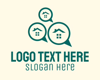 Chat App - Real Estate House Chat logo design