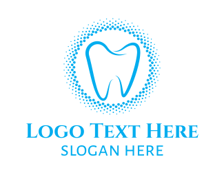 Blue Tooth - Blue Molar Circle logo design