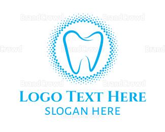 Dentistry - Blue Molar Circle logo design