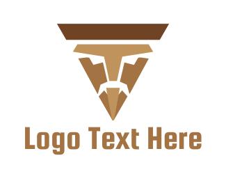 Brown Triangle - Nacho Man logo design