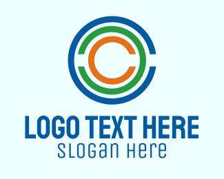 Rings - Communication Letter C logo design
