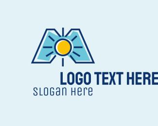 Weather Channel - Sun Letter M  logo design