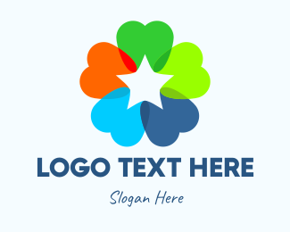 Orthodontics - Colorful Dental Star logo design