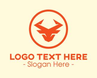 Digital Printing - Generic Bull Circle logo design