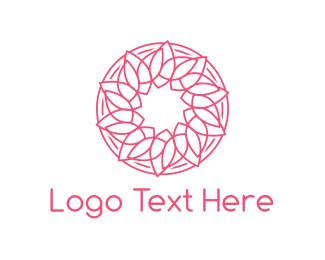 Henna - Leaf Circle logo design