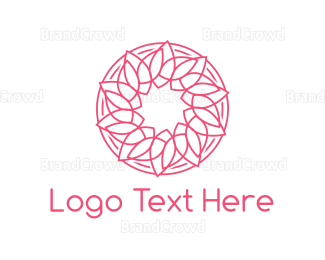 Buddhism - Spa Leaf Circle logo design