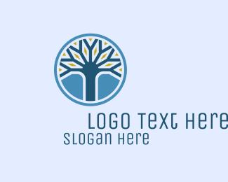 Heal - Spiritual Tree Life logo design