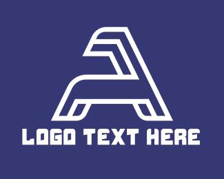 Minimalist - Minimalist White Letter A logo design