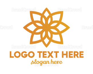 Flower Shop - Golden Flower  logo design