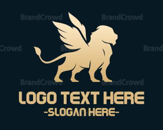 Creature - Winged Feline logo design