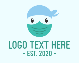 Health Worker - Doctor Surgeon Face Mask logo design