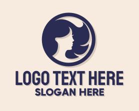 Maiden - Beautiful Woman Badge logo design