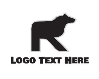 Farm Animal - Equine Letter R logo design
