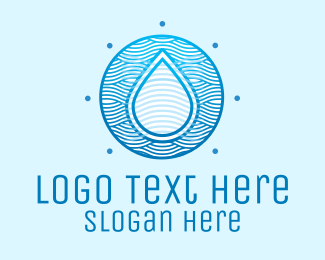 Surfing - Pure Water Drop logo design