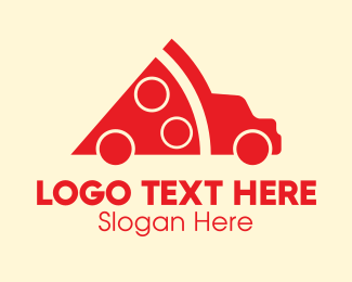 Food Delivery - Pizza Truck Delivery logo design