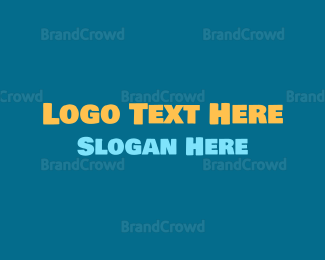 Social - Friendly Bold Text logo design
