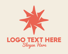 Shell - Pink Sea Shell Star logo design
